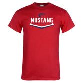 Red T Shirt-Mustang Softball