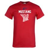 Red T Shirt-Mustang Basketball