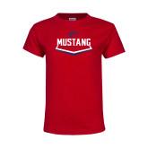 Youth Red T Shirt-Mustang Softball