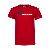 Youth Red T Shirt-Mustangs Flat