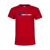 Youth Red T Shirt-Mustang Baseball