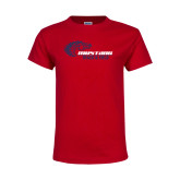 Youth Red T Shirt-Mustang Track and Field