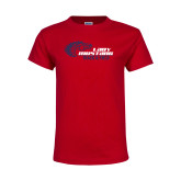 Youth Red T Shirt-Lady Mustang Track and Field