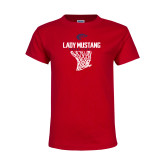 Youth Red T Shirt-Lady Mustang Basketball