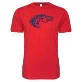Next Level SoftStyle Red T Shirt-Horse Head