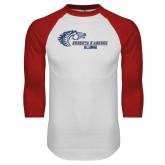 White/Red Raglan Baseball T Shirt-Alumni