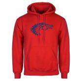 Red Fleece Hoodie-Horse Head