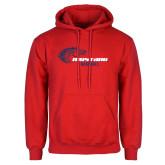 Red Fleece Hoodie-Mustang Baseball