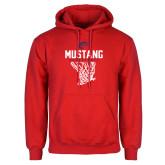 Red Fleece Hoodie-Mustang Basketball