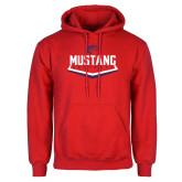 Red Fleece Hoodie-Mustang Softball