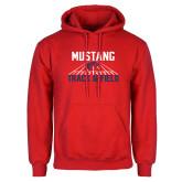 Red Fleece Hoodie-Mustang Track and Field