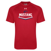 Under Armour Red Tech Tee-Mustang Softball