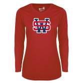 Ladies Syntrel Performance Red Longsleeve Shirt-SW