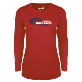 Ladies Syntrel Performance Red Longsleeve Shirt-Lady Mustang Volleyball