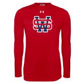 Under Armour Red Long Sleeve Tech Tee-SW