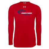 Under Armour Red Long Sleeve Tech Tee-Mustang Volleyball