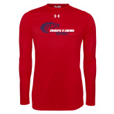 Under Armour Red Long Sleeve Tech Tee-Mustang Softball