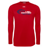Under Armour Red Long Sleeve Tech Tee-Lady Mustang Track and Field