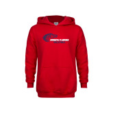 Youth Red Fleece Hoodie-Mustang Volleyball
