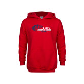 Youth Red Fleece Hoodie-Lady Mustang Softball