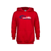 Youth Red Fleece Hoodie-Lady Mustang Track and Field