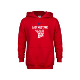 Youth Red Fleece Hoodie-Lady Mustang Basketball