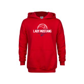 Youth Red Fleece Hoodie-Lady Mustang Volleyball