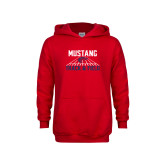 Youth Red Fleece Hoodie-Mustang Track and Field