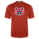 Performance Red Heather Contender Tee-SW