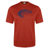 Performance Red Heather Contender Tee-Horse Head