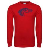 Red Long Sleeve T Shirt-Horse Head