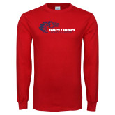 Red Long Sleeve T Shirt-Mustangs Flat