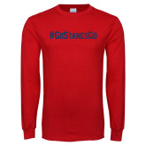 Red Long Sleeve T Shirt-Go Stangs Go