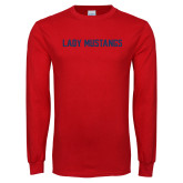 Red Long Sleeve T Shirt-Lady Mustangs