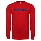 Red Long Sleeve T Shirt-Mustangs
