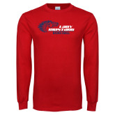 Red Long Sleeve T Shirt-Lady Mustang Basketball