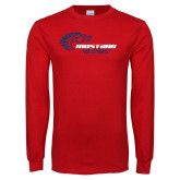 Red Long Sleeve T Shirt-Mustang Volleyball
