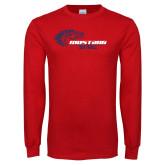 Red Long Sleeve T Shirt-Mustang Softball