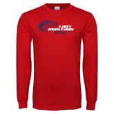 Red Long Sleeve T Shirt-Lady Mustang Softball