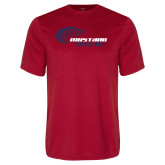 Performance Red Tee-Mustang Track and Field