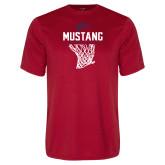 Performance Red Tee-Mustang Basketball