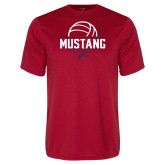 Performance Red Tee-Mustang Volleyball