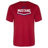 Performance Red Tee-Mustang Baseball