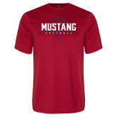 Performance Red Tee-Mustang Softball