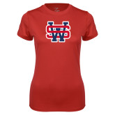 Ladies Syntrel Performance Red Tee-SW