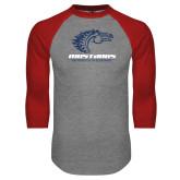 Grey/Red Raglan Baseball T Shirt-Primary Mark