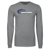 Grey Long Sleeve T Shirt-Mustangs Flat