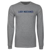 Grey Long Sleeve T Shirt-Lady Mustangs