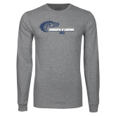 Grey Long Sleeve T Shirt-Mustang Baseball