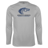 Performance Platinum Longsleeve Shirt-Primary Mark